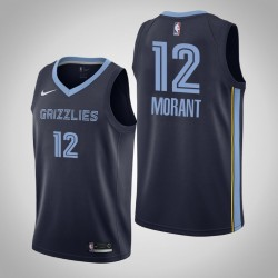 Männer Memphis Grizzlies Ja Morant # 12 Navy Swingman 2019-20 Trikot - Icon Ausgabe