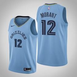 Männer Memphis Grizzlies Ja Morant & 12 Blue Swingman 2019-20 Jersey - Statement Ausgabe