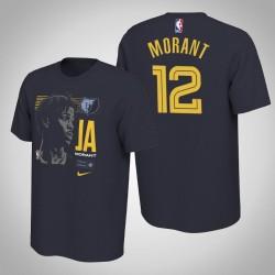 Memphis Grizzlies Ja Morant & 12 Navy 2019 NBA Draft Erste Runde Rookie-T-Shirt