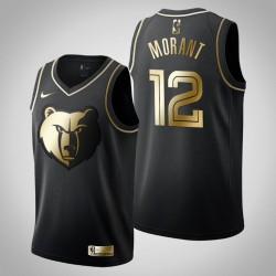 Memphis Grizzlies Ja Morant & 12 Schwarz Golden Edition Jersey