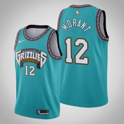 Grizzlies Ja Morant & 12 Teal 25. Saison Vancouver Throwbacks Jersey