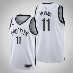 Männer Brooklyn Nets Kyrie Irving & 11 White Swingman Jersey - Verband