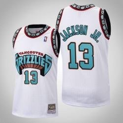 Männer Grizzlies Jaren Jackson Jr. & 13 White 1998 Holz Classics Throwback Jersey