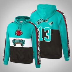 Vancouver Grizzlies & 13 Jaren Jackson Jr. Holz Classics Topscorer Pullover Türkis Hoodie