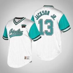 Memphis Grizzlies Jaren Jackson Jr. & 13 White Turquoise Top Prospect V-Neck T-Shirt