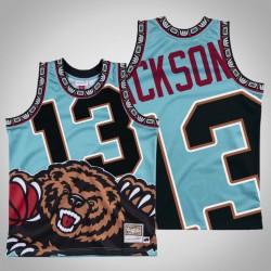 Männer Grizzlies Jaren Jackson Jr. & 13 Black Big Gesicht Hartholz Classics Jersey