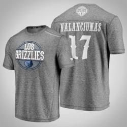Grizzlies Jonas Valančiūnas & 17 Latino Heritage Nacht Clutch Schießen melierter-Grau-T-Shirt