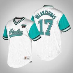 Memphis Grizzlies Jonas Valančiūnas & 17 White Turquoise Top Prospect V-Neck T-Shirt