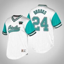 Memphis Grizzlies Dillon Brooks & 24 Weiß Türkis Top Prospect V-Neck T-Shirt