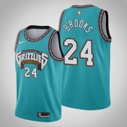 Grizzlies Dillon Brooks & 24 Teal 25. Saison Vancouver Throwbacks Jersey