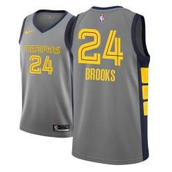 Männer NBA 2018-19 Dillon Brooks Memphis Grizzlies und 24 Ort Ausgabe Grau Jersey