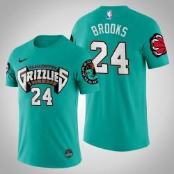 Grizzlies Dillon Brooks & 24 Teal 25. Saison Vancouver Throwbacks Hemd