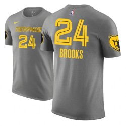 Männer Dillon Brooks Memphis Grizzlies und 24 Ort Ausgabe Grau Name & Nummer T-Shirt