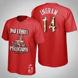 Brandon Ingram & 14 Red No Limit X New Orleans Pelicans HWC limitierte T-Shirt