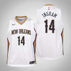 Jugend Brandon Ingram New Orleans Pelicans & 14 Verband Weiß Jersey