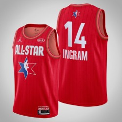 New Orleans Pelicans Brandon Ingram & 14 2020 NBA All-Star Game Reserves Red Jersey