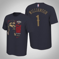 New Orleans Pelicans Zion Williamson # 1 Navy 2019 NBA Draft Erste Runde Rookie-T-Shirt