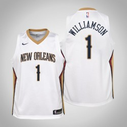 Jugend Zion Williamson New Orleans Pelicans # 1 Verband Weiß Trikot