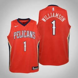Jugend Zion Williamson New Orleans Pelicans # 1 Statement Red Trikot
