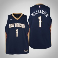 Jugend Zion Williamson New Orleans Pelicans # 1 Icon Navy Trikot