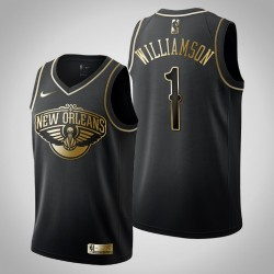 New Orleans Pelicans Zion Williamson # 1 Golden Edition Black Trikot