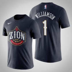 Männer New Orleans Pelicans Zion Williamson # 1 2019 NBA Draft Navy Name # Nummer T-Shirt