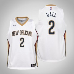 Jugend Lonzo Kugel New Orleans Pelicans & 2 Verband Weiß Jersey