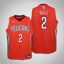 Jugend Lonzo Kugel New Orleans Pelicans & 2 Statement Red Jersey