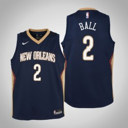 Jugend Lonzo Kugel New Orleans Pelicans & 2 Icon Navy Jersey