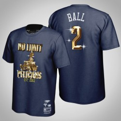 Lonzo Ball & 2 Navy No Limit X New Orleans Pelicans HWC limitierte T-Shirt