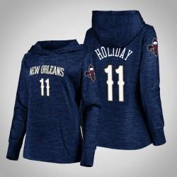 Frauen Pelicans Jrue Holiday Navy 2020 Saison Showtime Geschehen besser PulloverHoodie