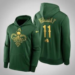 Jrue Holiday Pelicans & 11 Green St. Patrick Day Golden Begrenzte PulloverHoodie