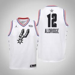2019 NBA All-Star Jugend San Antonio Spurs LaMarcus Aldridge & 12 Weiß Swingman Jersey