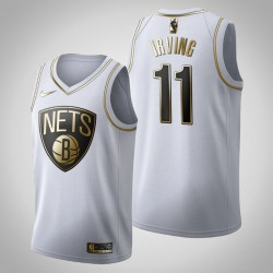 Brooklyn Nets Kyrie Irving & 11 Golden Edition Weiß Jersey