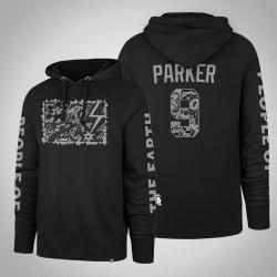 Männer Tony Parker Spurs & 9 Black Patty Mills X Tap Pilám PulloverHoodie