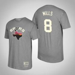 San Antonio Spurs Patty Mills & 8 Holz Classics Mitchell & Ness Heimatstadt-T-Shirt - Grau