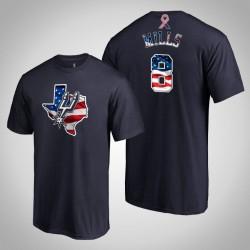 San Antonio Spurs Patty Mills & 8 2019 Memorial Day Banner Staat-Marine-T-Shirt
