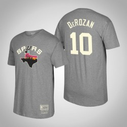 San Antonio Spurs DeMar DeRozan & 10 Holz Classics Mitchell & Ness Heimatstadt-T-Shirt - Grau