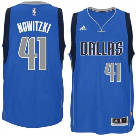 Dirk Nowitzki Dallas Mavericks und 41 2014-15 New Swingman Straße Royal Blue Jersey