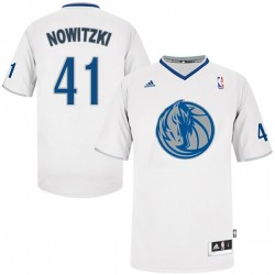 Dirk Nowitzki Dallas Mavericks # 41 2013 Christmas Day Trikot