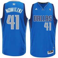 Dirk Nowitzki Dallas Mavericks und 41 Revolution 30 Straße Swingman Blau Trikot