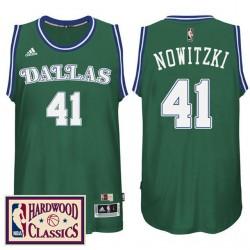 2016-17 Saison Dallas Mavericks und 41 Laubholz Classics Throwback Grün Jersey Dirk Nowitzki