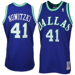 Dirk Nowitzki Mitchell # Ness Dallas Mavericks Throwback Trikot