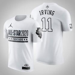 Brooklyn Nets Kyrie Irving & 11 2020 NBA All-Star Game Official Logo-Weiß-T-Shirt
