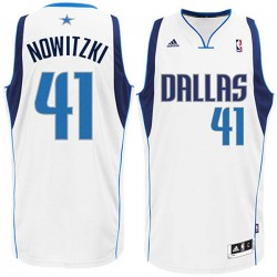 Dirk Nowitzki Dallas Mavericks # 41 Revolution30 Swingmanjerseys Startseite Weiß Trikot