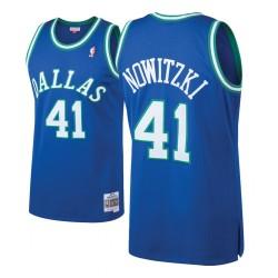 Herren Mitchell # Ness Dirk Nowitzki Dallas Mavericks und 41 1998-99 Holz Classics Blau Swingman Jersey