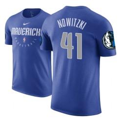 Männer Dirk Nowitzki Dallas Mavericks und 41 Blau Praxis Wesentliches T-Shirt