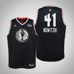 2019 NBA All-Star Jugend Dallas Mavericks Dirk Nowitzki # 41 Schwarz Swingman Trikot