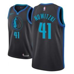 Männer NBA 2018-19 Dirk Nowitzki Dallas Mavericks und 41 Ort Ausgabe Anthrazit Jersey