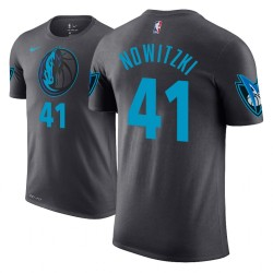 Männer Dirk Nowitzki Dallas Mavericks und 41 Ort Ausgabe Anthrazit Name # Nummer T-Shirt